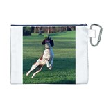 English Springer Catching Ball Canvas Cosmetic Bag (XL) Back