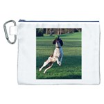 English Springer Catching Ball Canvas Cosmetic Bag (XXL) Front