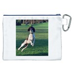 English Springer Catching Ball Canvas Cosmetic Bag (XXL) Back