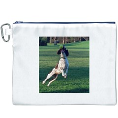English Springer Catching Ball Canvas Cosmetic Bag (XXXL)