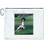 English Springer Catching Ball Canvas Cosmetic Bag (XXXL) Front