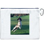 English Springer Catching Ball Canvas Cosmetic Bag (XXXL) Back