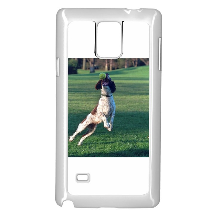 English Springer Catching Ball Samsung Galaxy Note 4 Case (White)