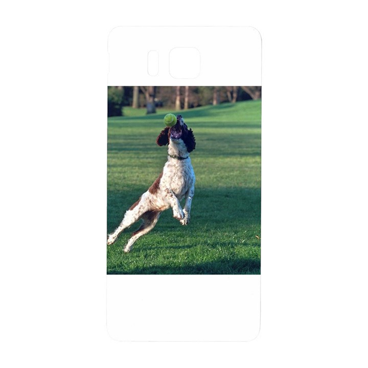 English Springer Catching Ball Samsung Galaxy Alpha Hardshell Back Case