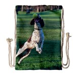 English Springer Catching Ball Drawstring Bag (Large) Front