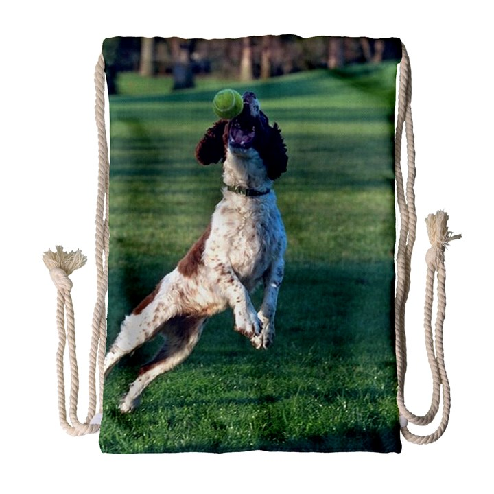 English Springer Catching Ball Drawstring Bag (Large)