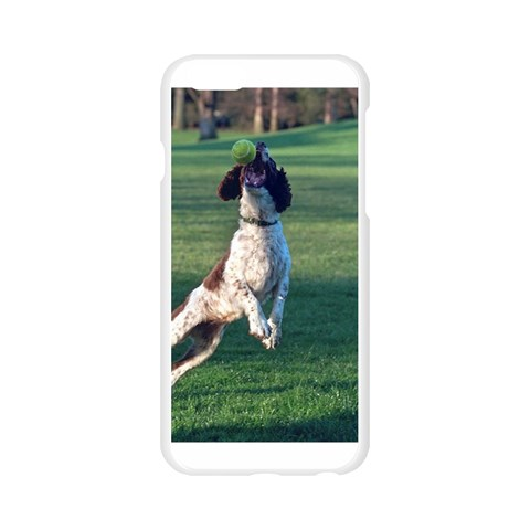 English Springer Catching Ball Apple Seamless iPhone 6/6S Case (Transparent)