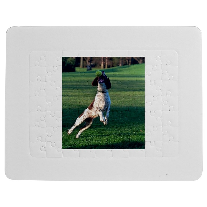 English Springer Catching Ball Jigsaw Puzzle Photo Stand (Rectangular)