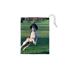 English Springer Catching Ball Drawstring Pouches (XS)