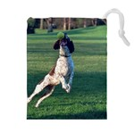 English Springer Catching Ball Drawstring Pouches (Extra Large) Front