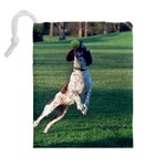 English Springer Catching Ball Drawstring Pouches (Extra Large) Back