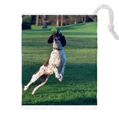 English Springer Catching Ball Drawstring Pouches (XXL)