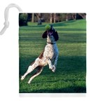English Springer Catching Ball Drawstring Pouches (XXL) Back