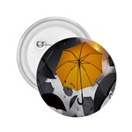 Umbrella Yellow Black White 2.25  Buttons Front