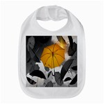 Umbrella Yellow Black White Bib Front