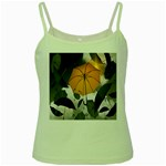 Umbrella Yellow Black White Green Spaghetti Tank Front