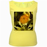 Umbrella Yellow Black White Women s Yellow Tank Top Front