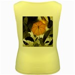 Umbrella Yellow Black White Women s Yellow Tank Top Back