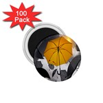 Umbrella Yellow Black White 1.75  Magnets (100 pack)  Front
