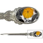 Umbrella Yellow Black White Letter Openers Front