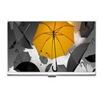 Umbrella Yellow Black White Business Card Holders Front