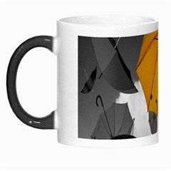 Umbrella Yellow Black White Morph Mugs