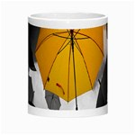 Umbrella Yellow Black White Morph Mugs Center