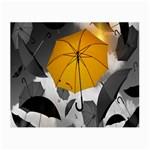 Umbrella Yellow Black White Small Glasses Cloth Front