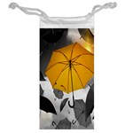 Umbrella Yellow Black White Jewelry Bags Back