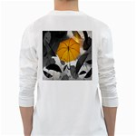 Umbrella Yellow Black White White Long Sleeve T-Shirts Back