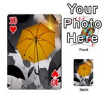 Umbrella Yellow Black White Playing Cards 54 Designs  Front - Heart10