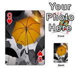 Umbrella Yellow Black White Playing Cards 54 Designs  Front - HeartQ