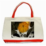 Umbrella Yellow Black White Classic Tote Bag (Red) Front