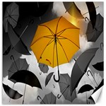 Umbrella Yellow Black White Canvas 20  x 20   20 x20 Canvas - 1