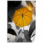 Umbrella Yellow Black White Canvas 20  x 30   30 x20 Canvas - 1