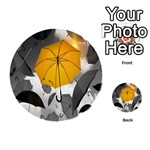 Umbrella Yellow Black White Playing Cards 54 (Round)  Back
