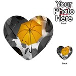 Umbrella Yellow Black White Playing Cards 54 (Heart)  Back