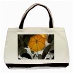 Umbrella Yellow Black White Basic Tote Bag (Two Sides) Back