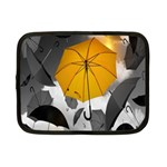 Umbrella Yellow Black White Netbook Case (Small)  Front