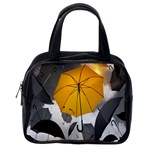 Umbrella Yellow Black White Classic Handbags (One Side) Front