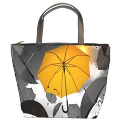 Umbrella Yellow Black White Bucket Bags