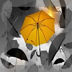 Umbrella Yellow Black White Mini Canvas 8  x 8  8  x 8  x 0.875  Stretched Canvas