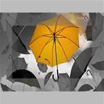Umbrella Yellow Black White Mini Canvas 6  x 4  6  x 4  x 0.875  Stretched Canvas