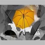 Umbrella Yellow Black White Mini Canvas 7  x 5  7  x 5  x 0.875  Stretched Canvas