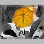 Umbrella Yellow Black White Canvas 16  x 12  16  x 12  x 0.875  Stretched Canvas
