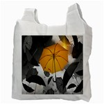 Umbrella Yellow Black White Recycle Bag (Two Side)  Back
