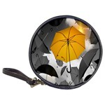 Umbrella Yellow Black White Classic 20-CD Wallets Front