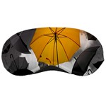 Umbrella Yellow Black White Sleeping Masks Front