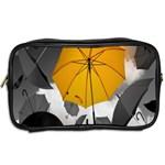 Umbrella Yellow Black White Toiletries Bags 2-Side Back