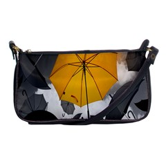 Umbrella Yellow Black White Shoulder Clutch Bags